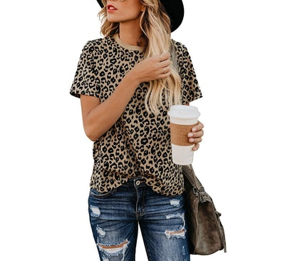 Blooming Jelly Leopard Print Top