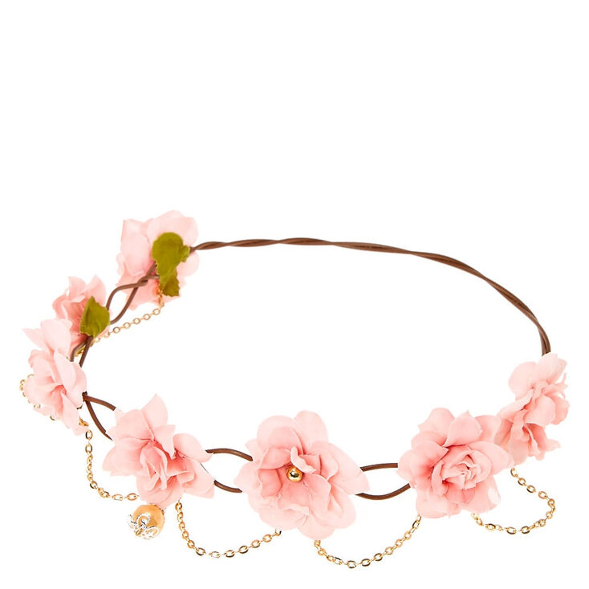 Claire's Gold Chain Flower Crown Headwrap