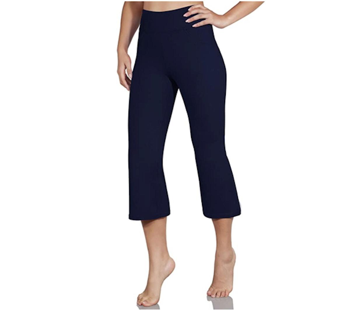 ODODOS Cropped Bootcut Yoga Pants