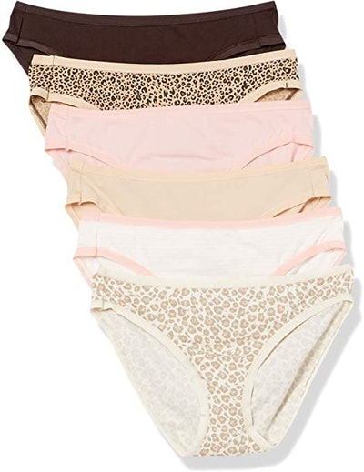 Amazon Essentials Women's Cotton Stretch Bikini Panty (6-Pack)
