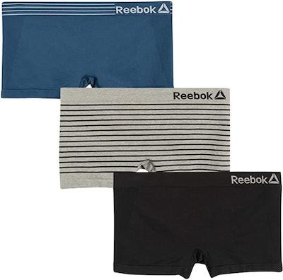Reebok Women's Plus Size Seamless Boyshort Panties (3-Pack)