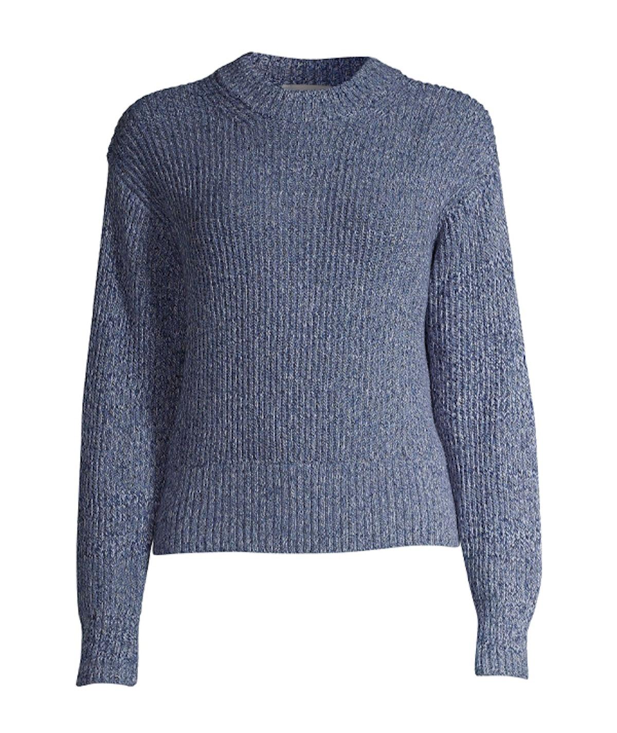 Marled Chunky Crewneck Sweater
