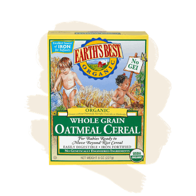 Earth's Best Organic Whole Grain Baby Oatmeal Cereal - 8oz