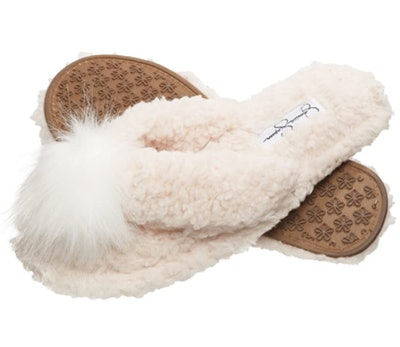 Jessica Simpson Fluffy Pom Thong Slippers