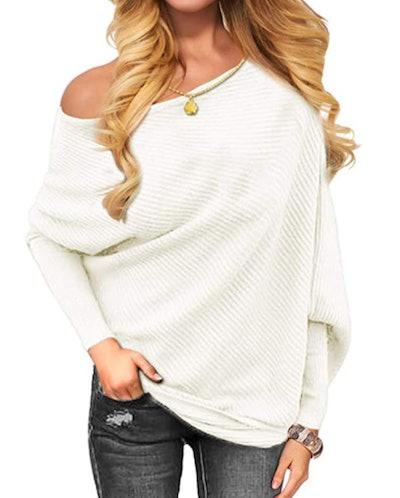 OmicGot Off The Shoulder Knit Sweater