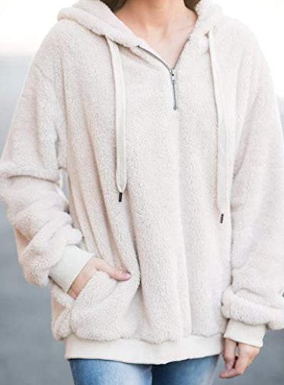 Dokotoo Fuzzy Sweatshirt with Pockets