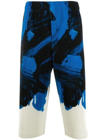Homme Plissé Issey Miyake Graphic Print Pleated Trousers