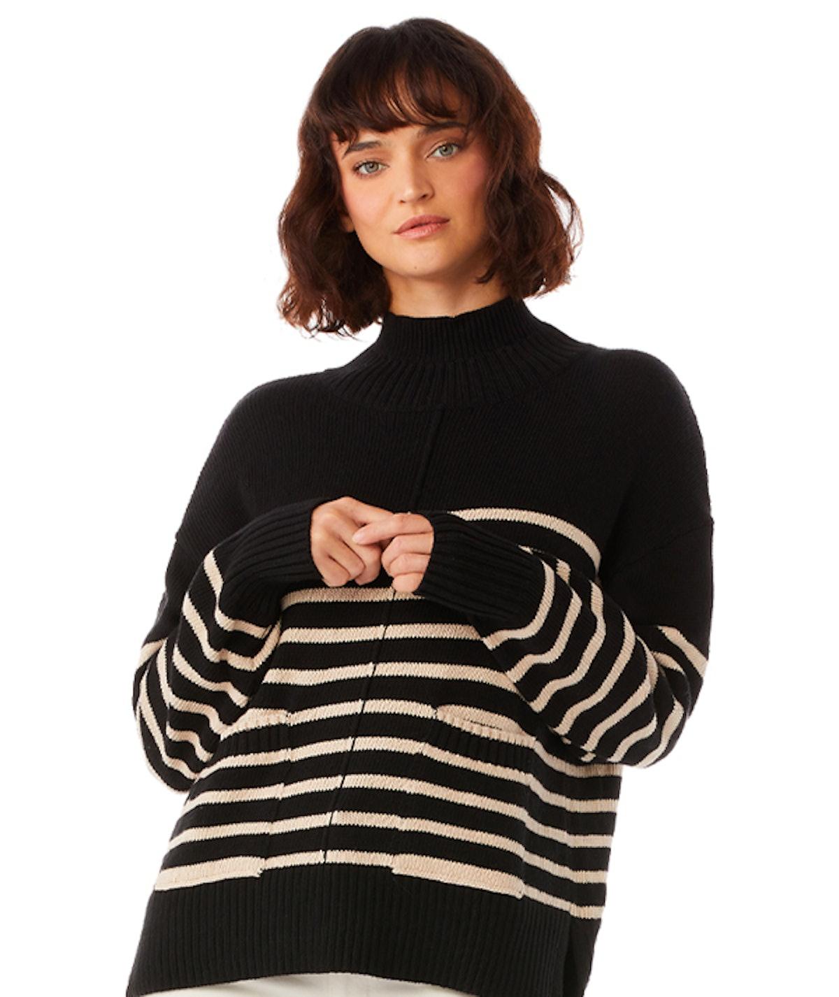 Boxy Mockneck Sweater