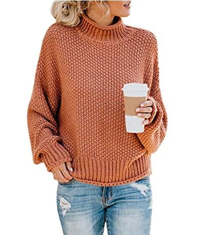Saodimallsu Turtleneck Batwing Sweater