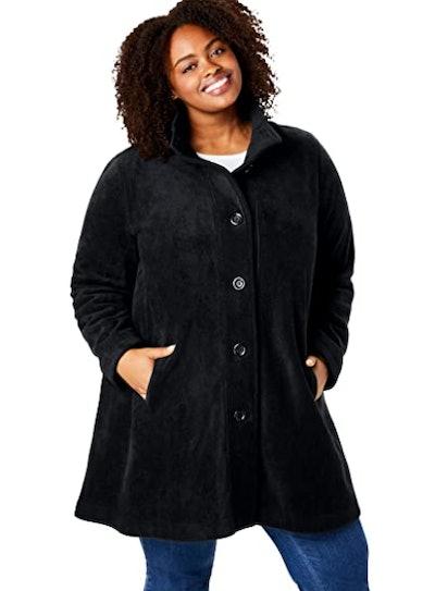 Woman Within Fleece Swing Coat
