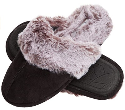 Jessica Simpson Faux Fur House Slippers