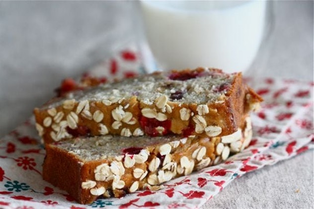 Cranberry Oat Banana Bread