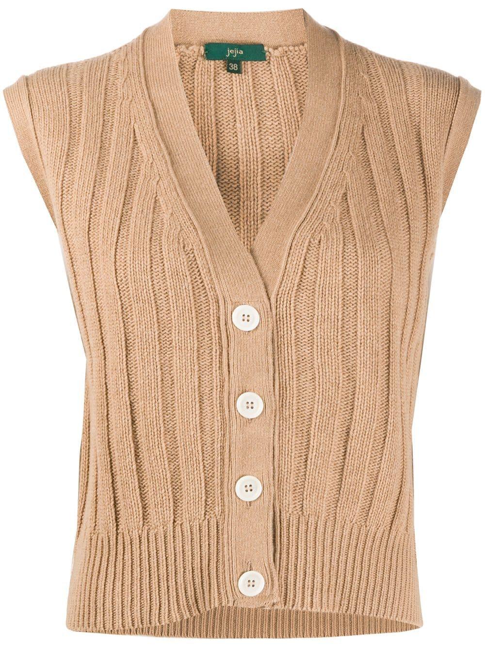 Ribbed-Knit Vest