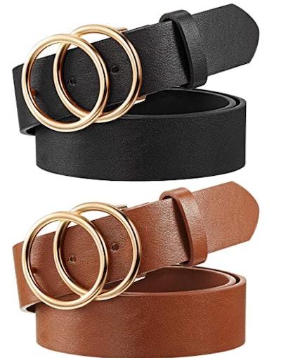 Syhood Faux Leather Waist Belts