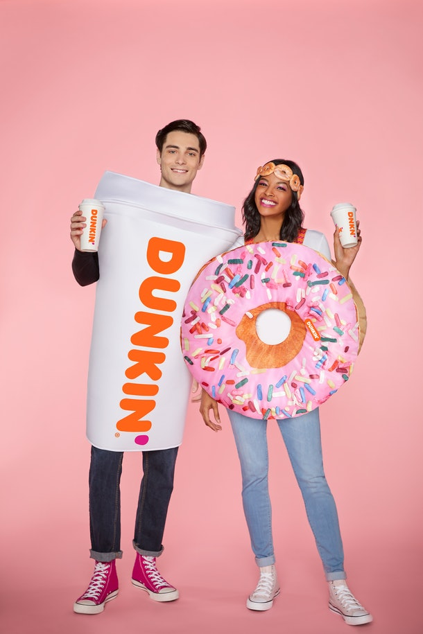 These 2020 Spirit Halloween Dunkin' Costumes feature a Strawberry Frosted Sprinkles Donut.