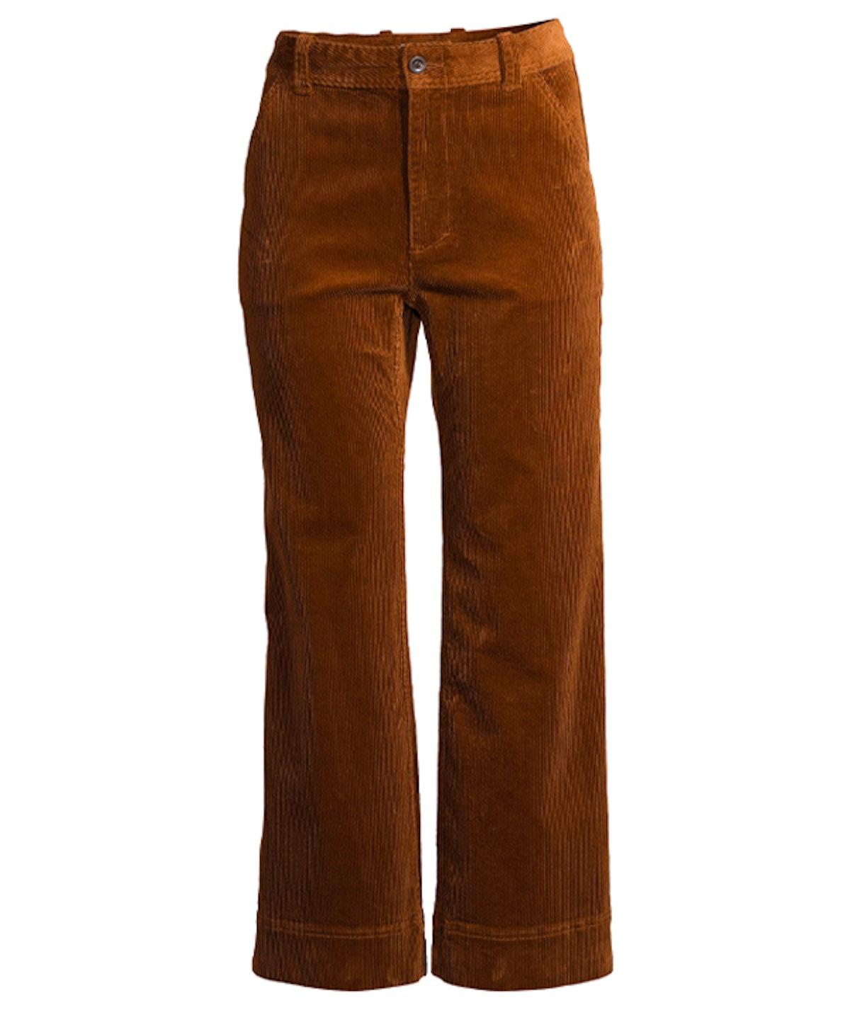 Corduroy Wide-Leg Utility Pants