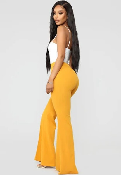 Victoria High Waisted Flare - Mustard