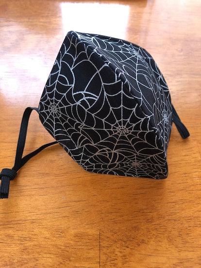 StitchEffect Metallic Spider Web Face Mask With Elastic, Washable, Adjustable