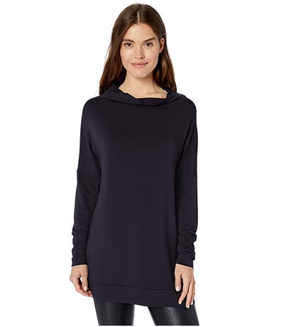 Daily Ritual Women's Supersoft Terry Modern Funnel-Neck Tunic