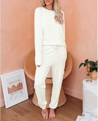 Eurivicy Women's Solid Sweatsuit Set