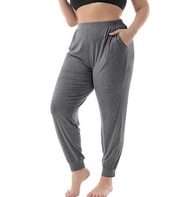 ZERDOCEAN Women's Plus Size Relaxed Long Lounge Pants