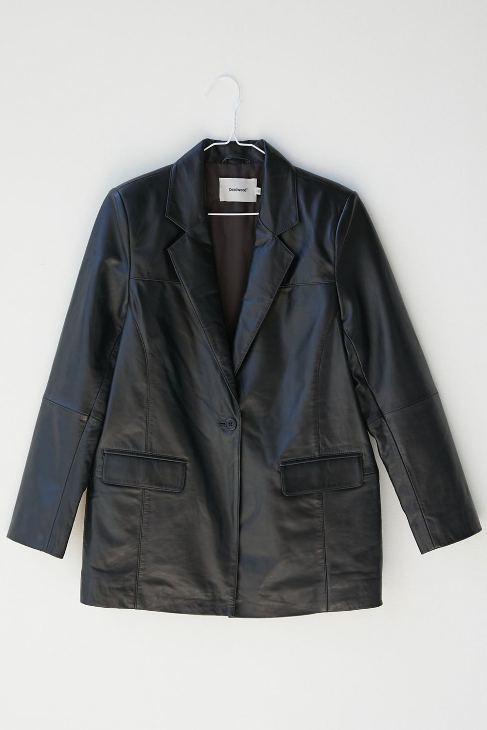 Brooke Oversized Leather Blazer