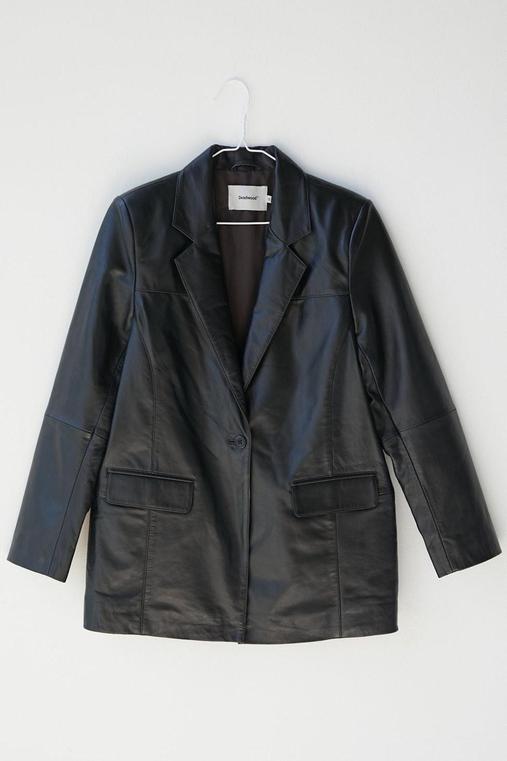Brooke Oversized Leather Blazer