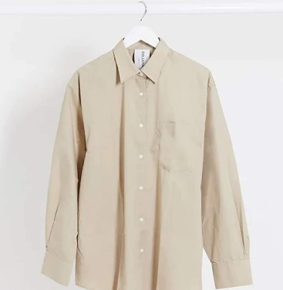COLLUSION oversized shirt in stone
