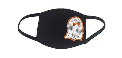 RhineDesigns Rhinestone Ghost Halloween Embellished Face Mask