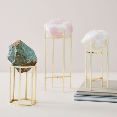 Natural Stone on Stand Objects, Pink