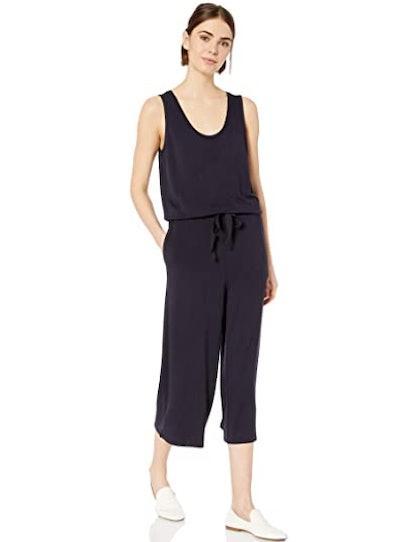 Daily Ritual Women's Terry Sleeveless Wide-Leg Jumpsuit