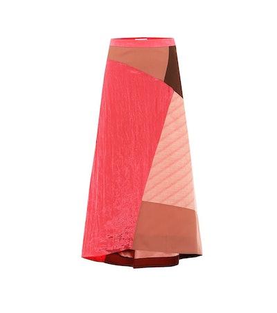 Ava Patchwork Midi Skirt