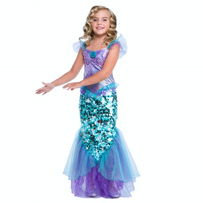 Girl Mermaid Small Halloween Dress Up Costume