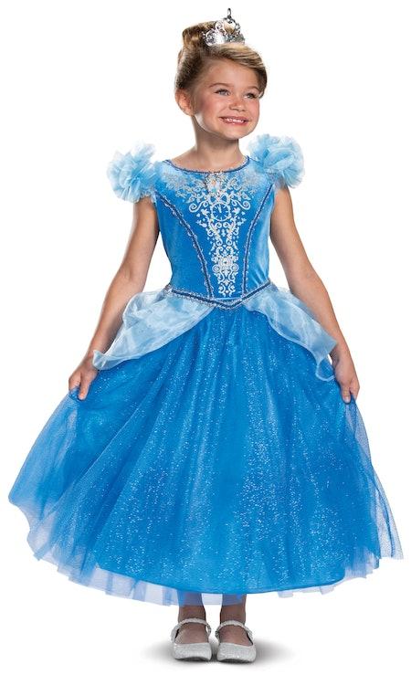 Disguise Disney Princess Girls Deluxe Cinderella Halloween Costume