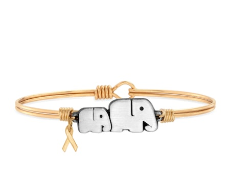 Childhood Cancer Awareness Bangle Bracelet