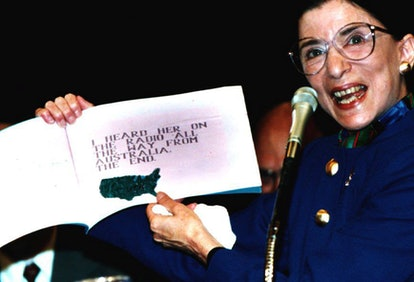 "In July, 1993, RBG displays a book titled ""My Grandma is Very Special"", which was written by Paul Spera, her grandson."