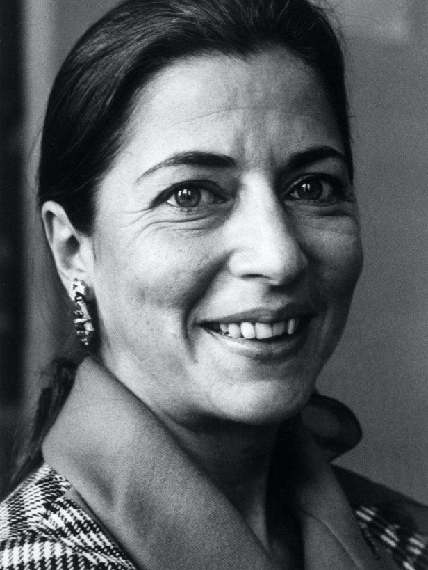 A black and white portrait of Ruth Ginsburg, filed 1977
