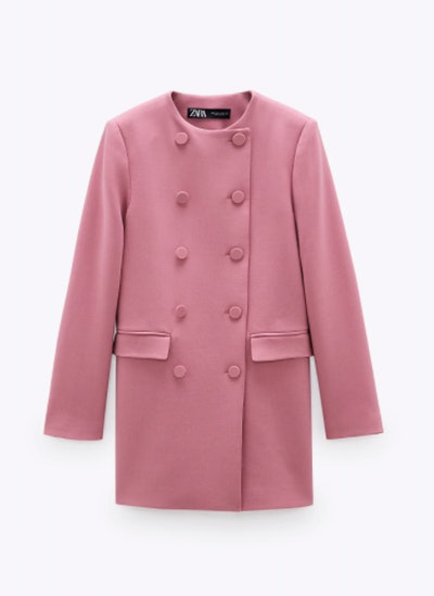 LINED BUTTON FROCK COAT