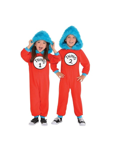 Kid Thing 1 and Thing 2 Jumpsuit Costume