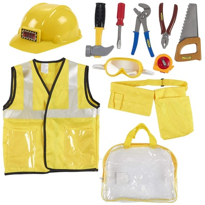 10-Piece Construction Worker Costume for Kids