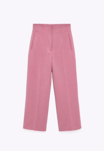 HIGH-WAISTED CROPPED PANTS