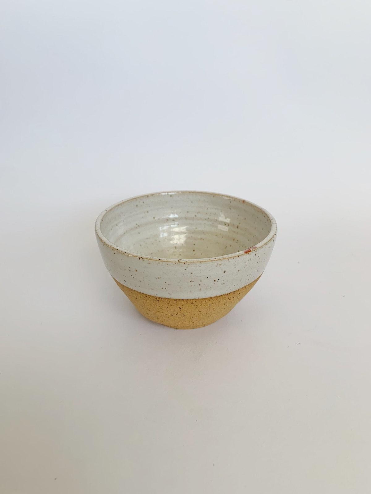 Speckled White Ceramic Bowl