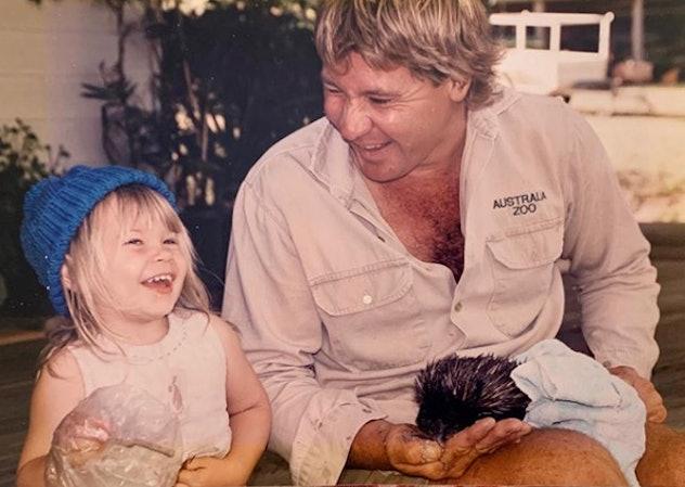 Bindi Irwin celebrates her dad's birthday.