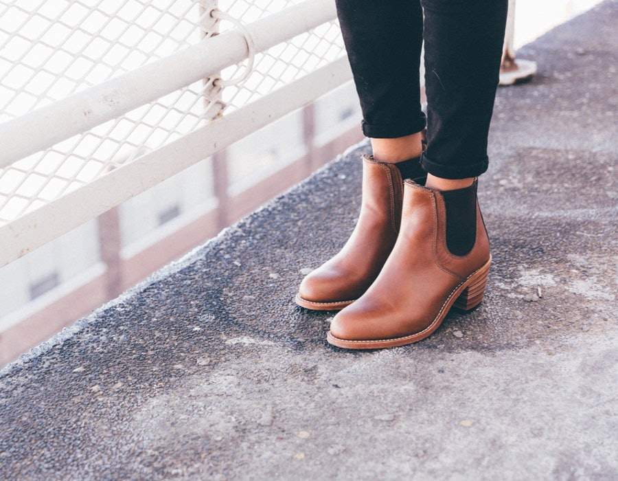 Red Wing boots womens street style