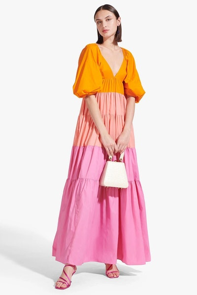 MEADOW DRESS | MONARCH CORAL WILD ORCHID