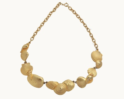 Vintage Gold Seashell Necklace
