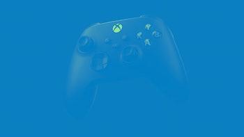 A black Xbox Series X controller.
