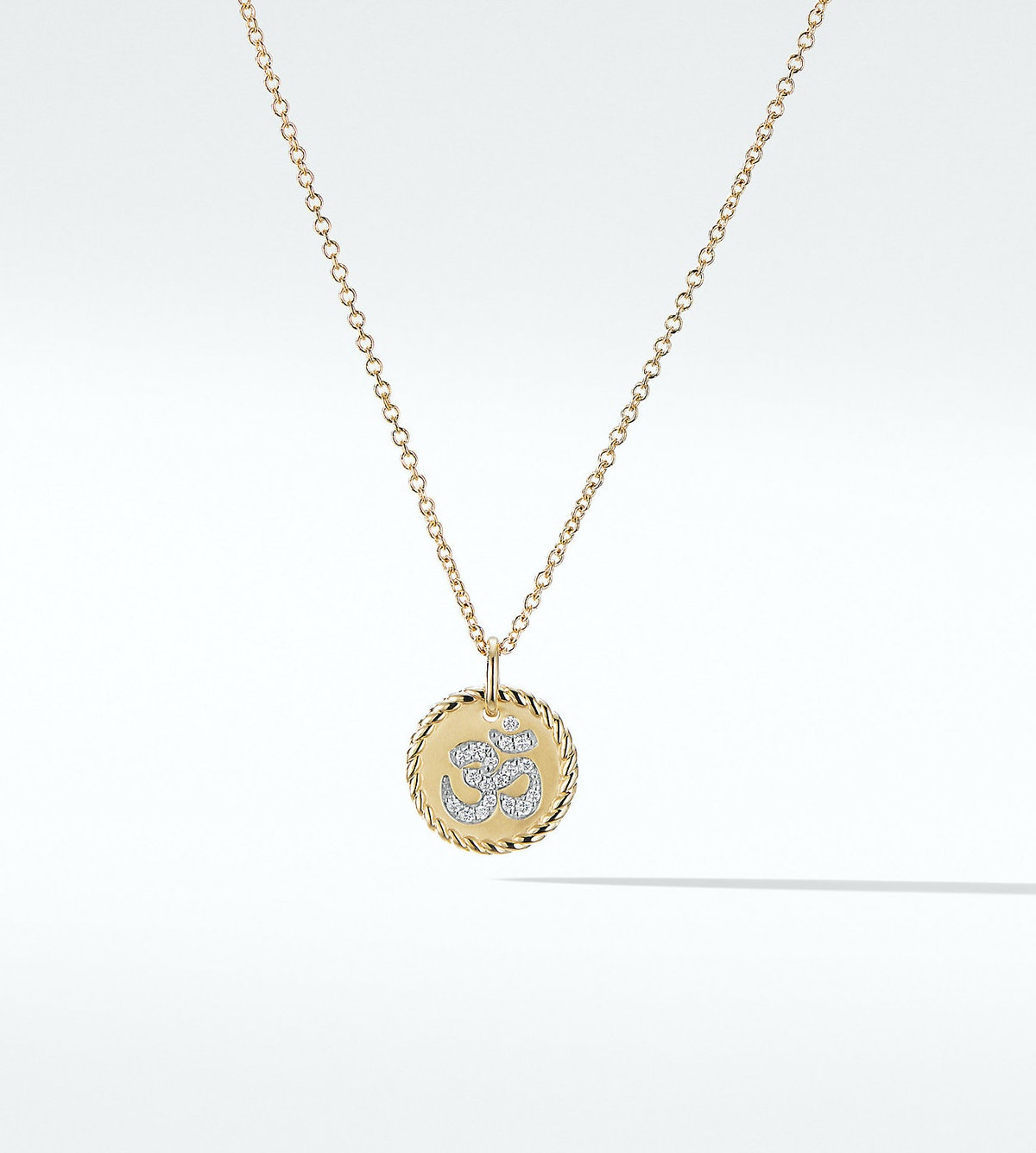 Cable Collectibles Om Necklace with Diamonds in 18K Gold