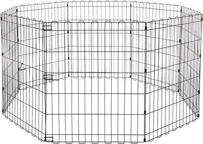 AmazonBasics Foldable Metal 30-Inch Pet Exercise and Playpen