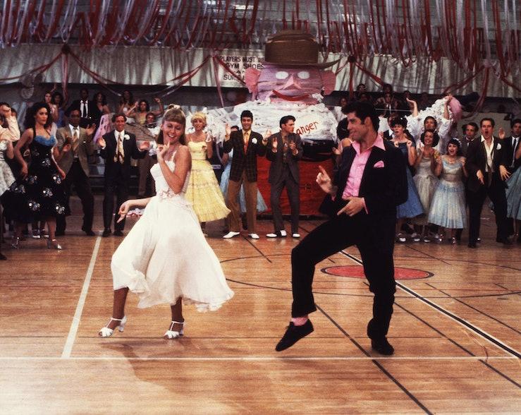 Olivia Newton-John and John Travolta 1978's Grease.
